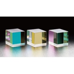 Dielectric Cube Beamsplitters, 400 - 700 nm, A-B-C: 20 mm, LIDT: 0.3 J/cm²