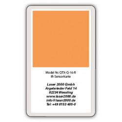 IR-Sensor card, 700 - 1400 nm, R, Blue-Green