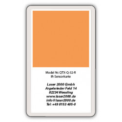 IR-Sensor card, 800 - 1700 nm, R, Red
