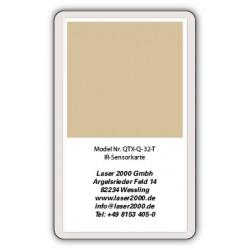 IR-Sensor card, 800 - 1700 nm, T, Red