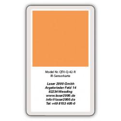 IR-Sensor card, 700 - 1600 nm, R, Orange