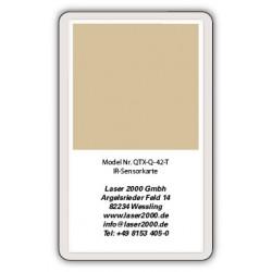 IR-Sensor card, 700 - 1600 nm, T, Orange