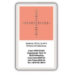 IR-Sensor card with crosshairs, 800 - 1700 nm, R, Red