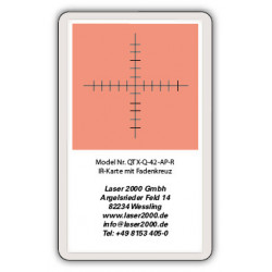IR-Sensor card with crosshairs, 700 - 1600 nm, R, Orange