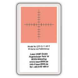 IR-Sensor card with crosshairs, 700 - 1400 nm, T, Orange
