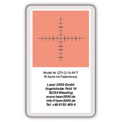 IR-Sensor card with crosshairs, 700 - 1400 nm, T, Blue-Green