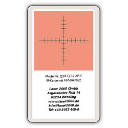 IR-Sensor card with crosshairs, 800 - 1700 nm, T, Red