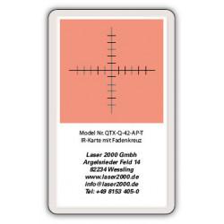 IR-Sensor card with crosshairs, 700 - 1600 nm,T, Orange